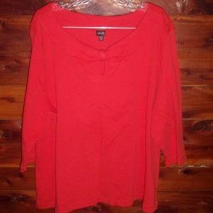 Rafaella Womens Plus Size 3x red Top